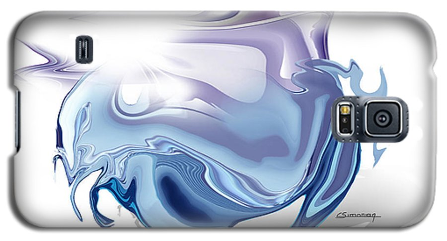 Astrology Galaxy S5 Case featuring the painting Cancer by Christian Simonian