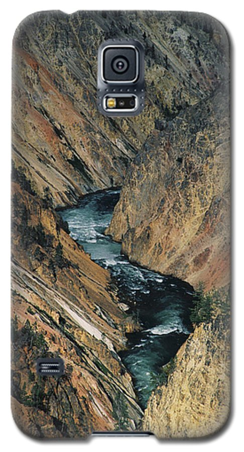 Yellowstone Galaxy S5 Case featuring the photograph Canyon Jewel by Kathy McClure