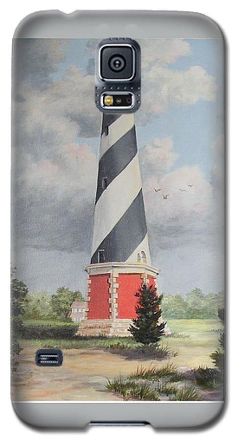 Sunrise Clouds Galaxy S5 Case featuring the painting Cape Hatteris Sunrise by Wanda Dansereau