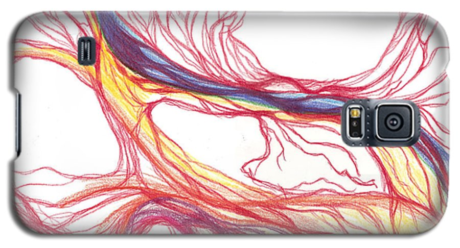 Capillaries Galaxy S5 Case featuring the drawing Capillaries by Lindsay Clark
