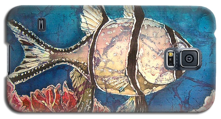 Cardinalfish Galaxy S5 Case featuring the painting Cardinalfish by Sue Duda