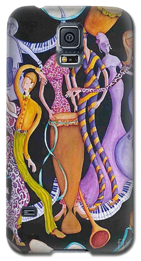 Dancers Galaxy S5 Case featuring the painting Caribbean Calypso by Arleen Barton