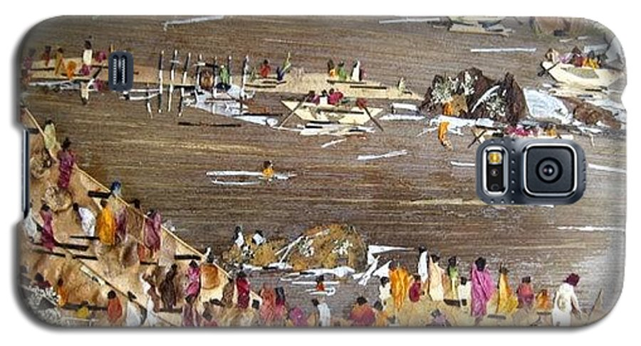 Festval Galaxy S5 Case featuring the mixed media Carnival At River by Basant Soni