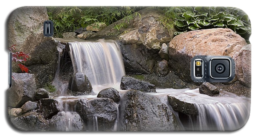 3scape Photos Galaxy S5 Case featuring the photograph Cascade Waterfall by Adam Romanowicz