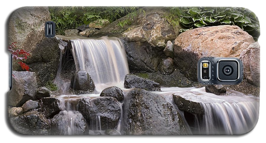 3scape Galaxy S5 Case featuring the photograph Cascade Waterfall by Adam Romanowicz
