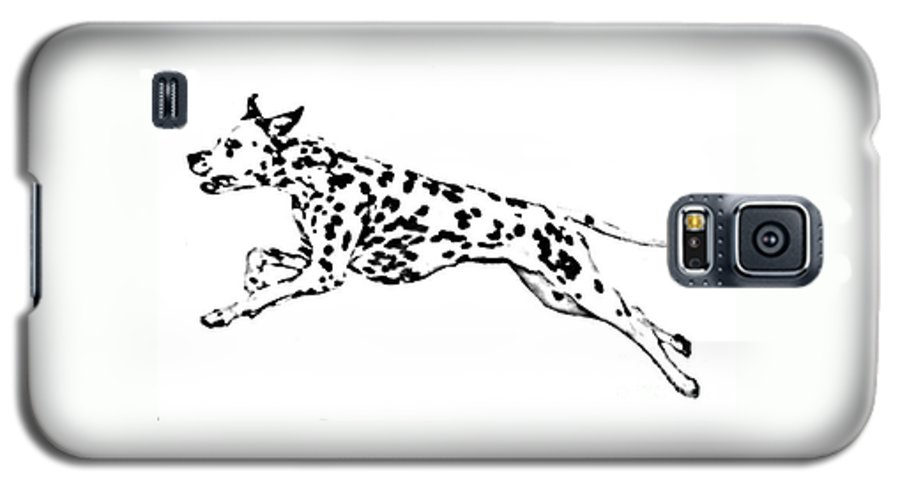 Dogs Galaxy S5 Case featuring the drawing Celebrate by Jacki McGovern