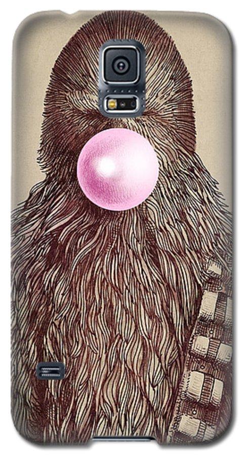 Bubblegum Galaxy S5 Case featuring the drawing Big Chew by Eric Fan