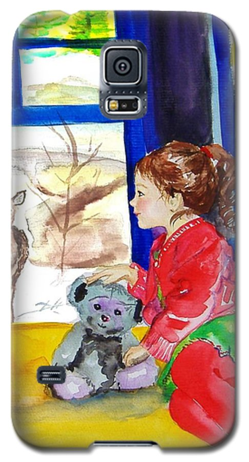 Christmas Galaxy S5 Case featuring the painting Childhood by Laura Rispoli