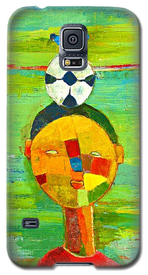Childhood Galaxy S5 Case featuring the painting Childhood Memories by Habib Ayat