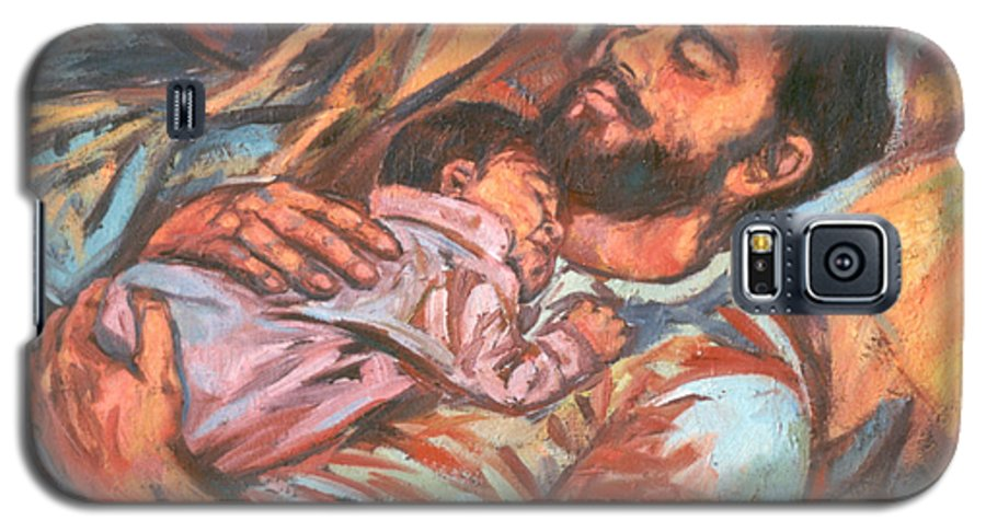 Figure Galaxy S5 Case featuring the painting Clyde And Alan by Kendall Kessler