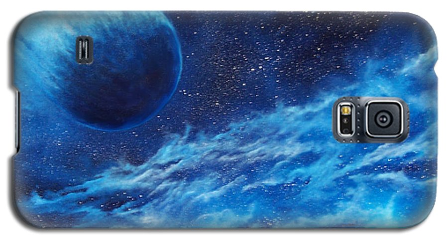 Astro Galaxy S5 Case featuring the painting Comet Experience by Murphy Elliott