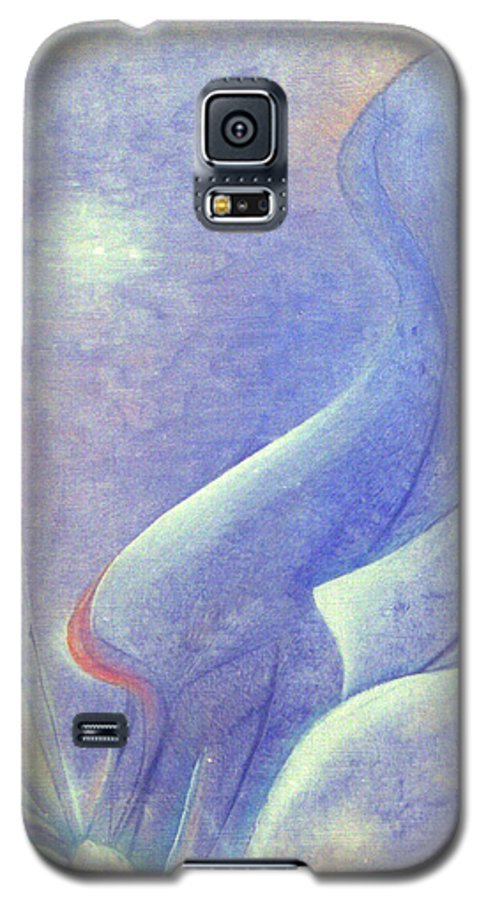 Blue Galaxy S5 Case featuring the painting Comfort by Christina Rahm Galanis