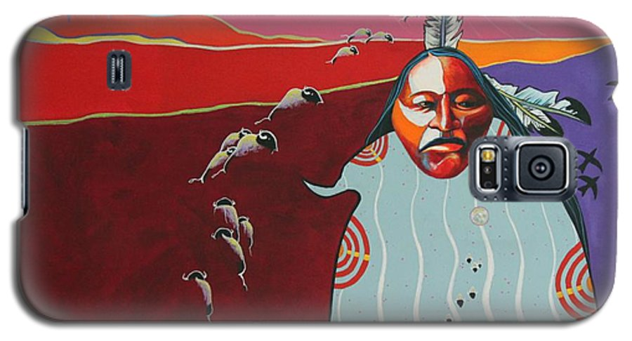 Native American Galaxy S5 Case featuring the painting Creation by Joe Triano
