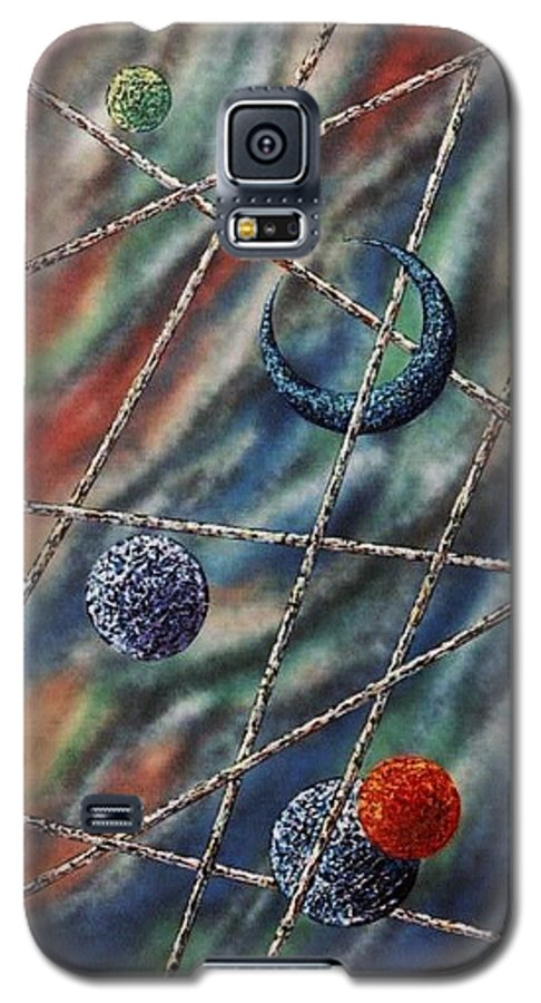 Abstract Galaxy S5 Case featuring the painting Crescent by Micah Guenther