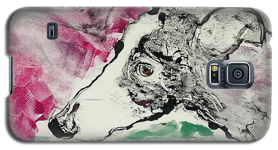 Greyhound Galaxy S5 Case featuring the painting Cyrus by Cori Solomon