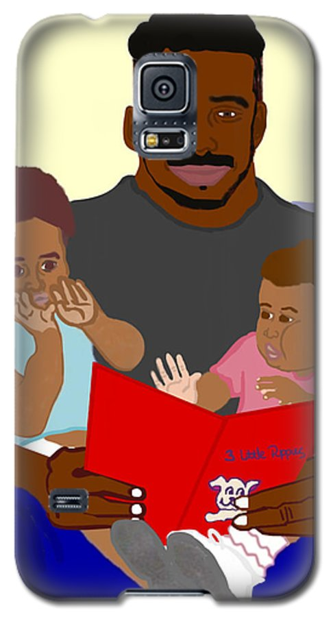 Dad Galaxy S5 Case featuring the painting Daddy's Bundles by Pharris Art