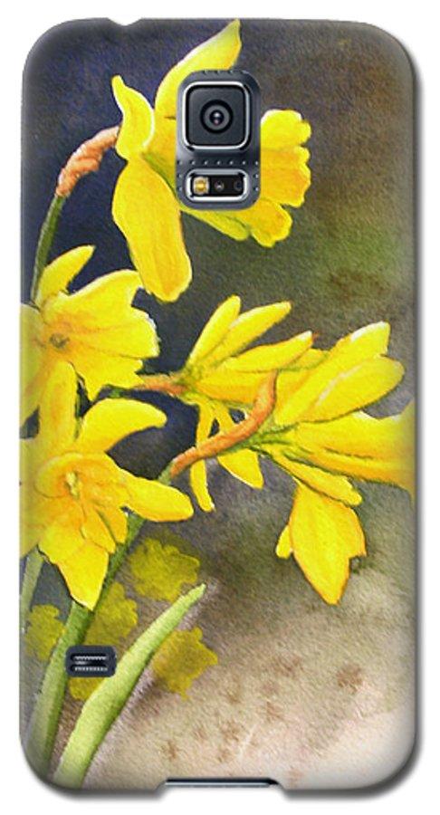 Rick Huotari Galaxy S5 Case featuring the painting Daffodils by Rick Huotari