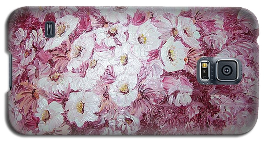 Galaxy S5 Case featuring the painting Daisy Blush by Karin Dawn Kelshall- Best