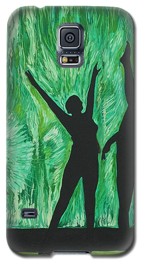 Abstract Galaxy S5 Case featuring the painting Dance by Aimee Vance