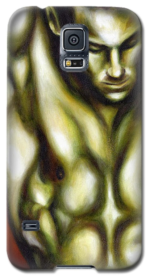 Man Galaxy S5 Case featuring the painting Dancer One by Hiroko Sakai