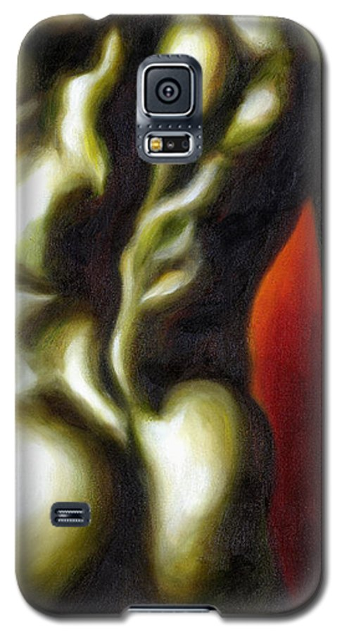 Man Nude Painting Galaxy S5 Case featuring the painting Dancer Two by Hiroko Sakai