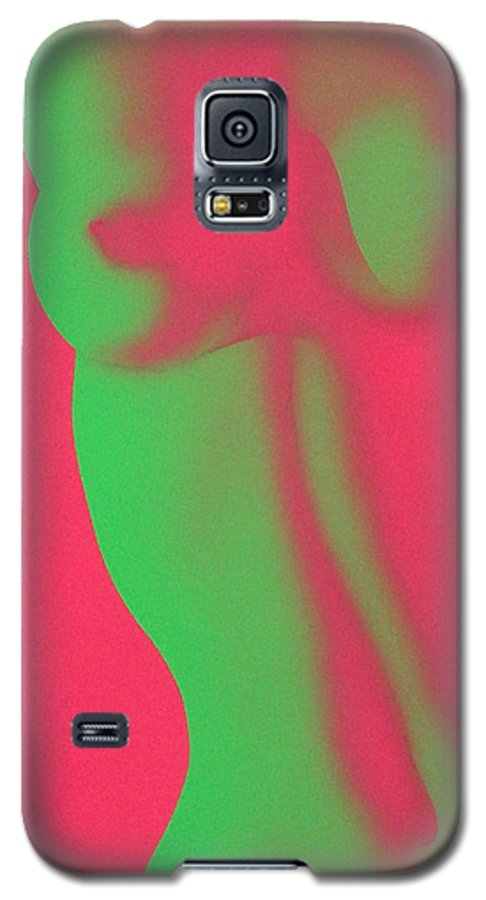 Nude Galaxy S5 Case featuring the painting Dayglo Nude by Philip Fleischer