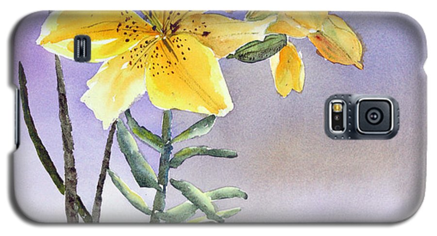 Lily Galaxy S5 Case featuring the painting Daylilies by Patricia Novack