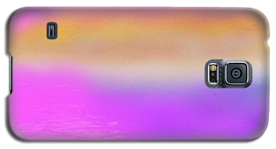 Morning.sky.sea.fog.coilors.mounts.water.reflection.sun Galaxy S5 Case featuring the digital art Dead Sea .morning by Dr Loifer Vladimir
