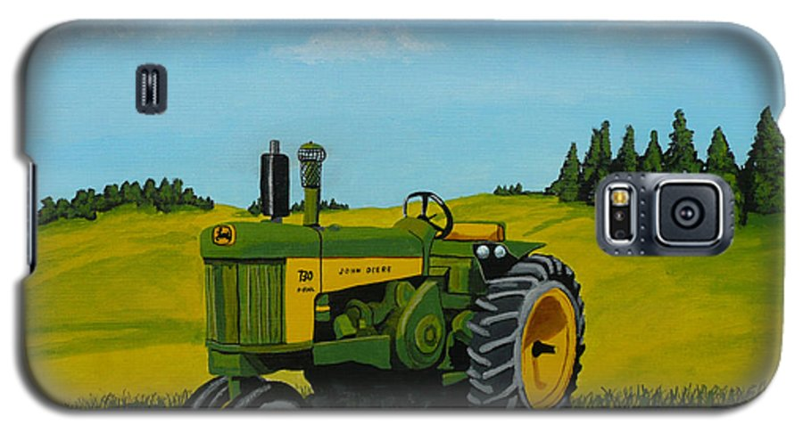 John Deere Galaxy S5 Case featuring the painting Dear John by Anthony Dunphy