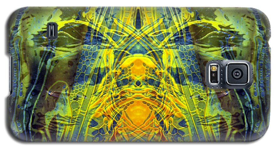 Surrealism Galaxy S5 Case featuring the digital art Decalcomaniac Intersection 1 by Otto Rapp