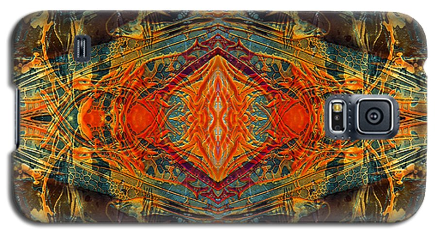 Surrealism Galaxy S5 Case featuring the digital art Decalcomaniac Intersection 2 by Otto Rapp