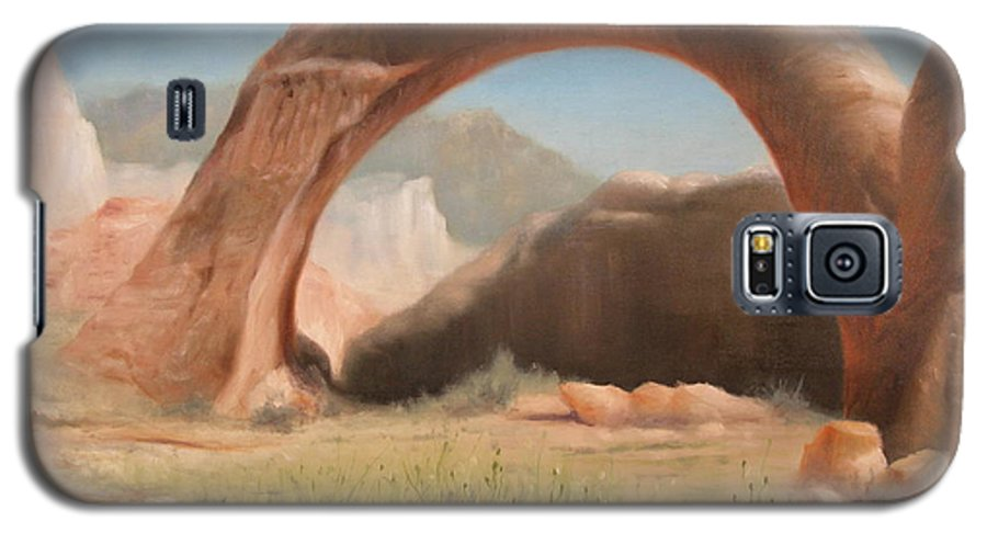 Realism Galaxy S5 Case featuring the painting Desert Arch by Donelli DiMaria
