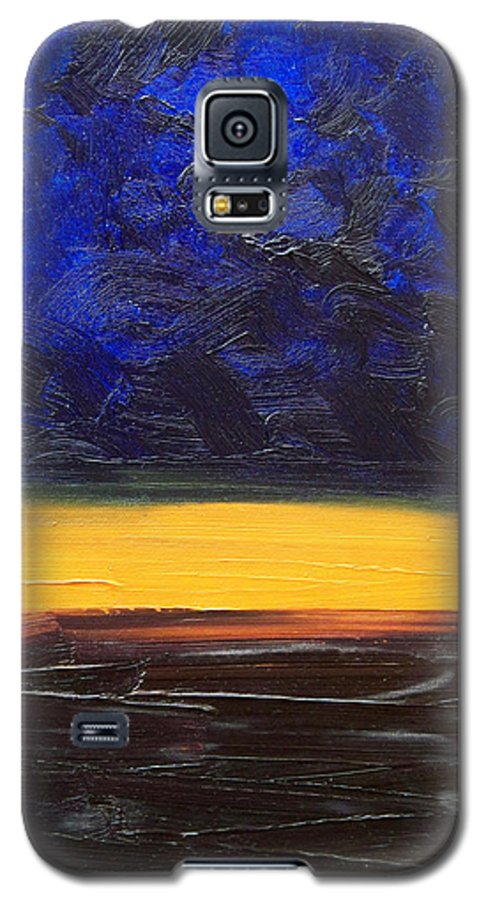 Landscape Galaxy S5 Case featuring the painting Desert Plains by Sergey Bezhinets
