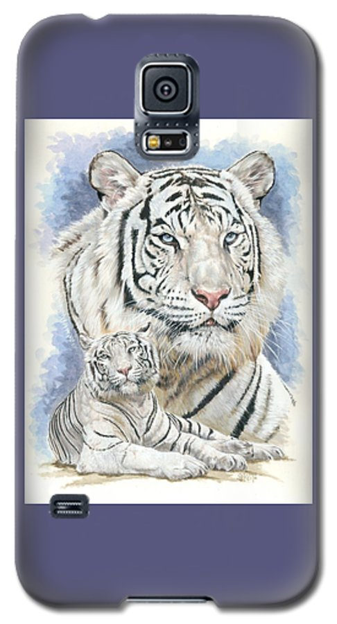 Big Cat Galaxy S5 Case featuring the mixed media Dignity by Barbara Keith
