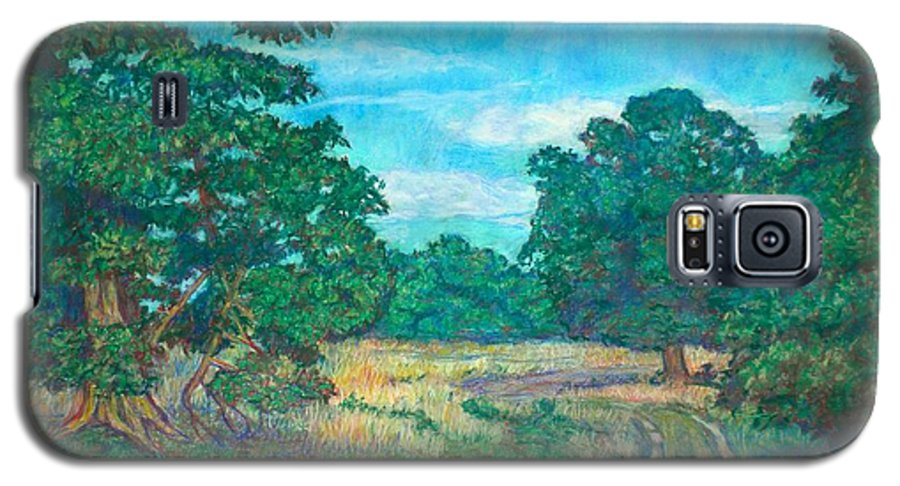 Landscape Galaxy S5 Case featuring the painting Dirt Road Near Rock Castle Gorge by Kendall Kessler
