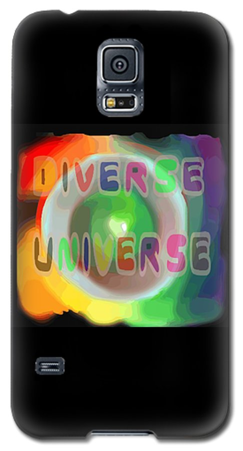 Diverse Galaxy S5 Case featuring the painting Diverse Universe by Pharris Art