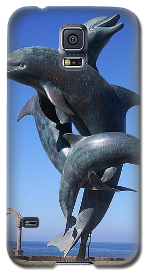 Jandrel Galaxy S5 Case featuring the photograph Dolphin Dance by J Andrel