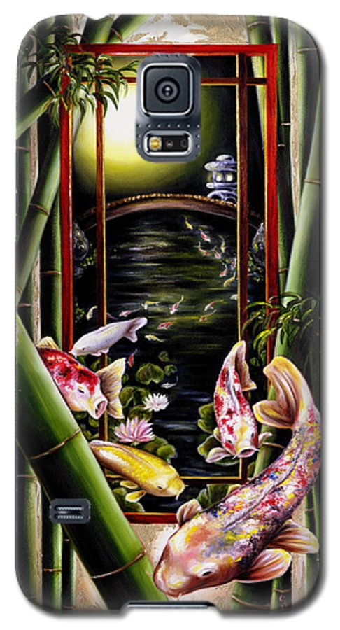 Japanese Galaxy S5 Case featuring the painting Dream by Hiroko Sakai