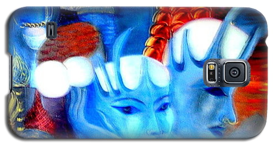 Surrealism Galaxy S5 Case featuring the painting Dreams Of Russia by Pilar Martinez-Byrne