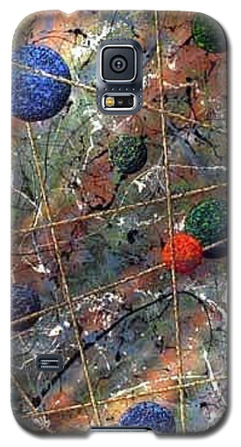 Abstract Galaxy S5 Case featuring the painting Dreamscape by Micah Guenther
