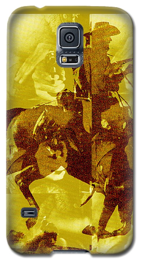 Clint Eastwood Galaxy S5 Case featuring the digital art Duel In The Saddle 1 by Seth Weaver