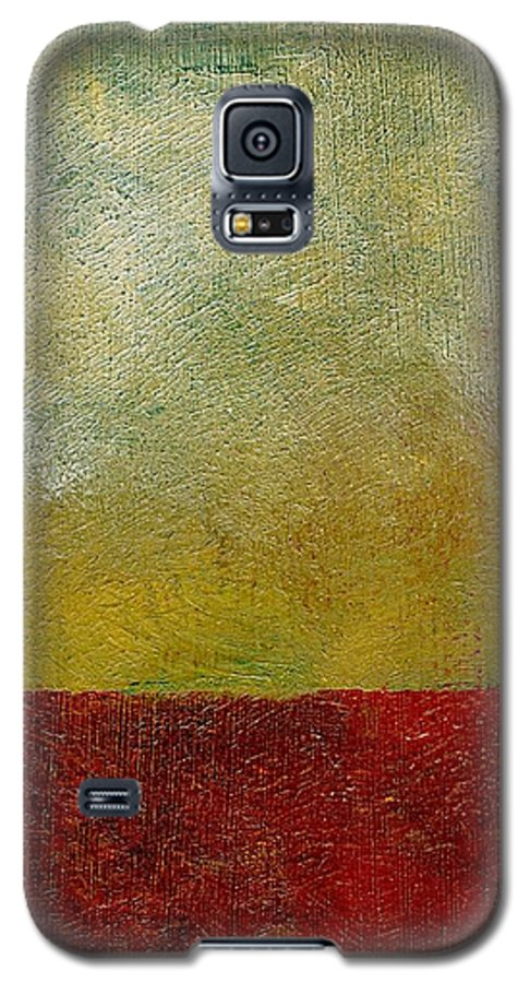 Abstract Landscape Galaxy S5 Case featuring the painting Earth Study One by Michelle Calkins