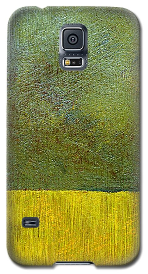 Abstract Landscape Galaxy S5 Case featuring the painting Earth Study Two by Michelle Calkins