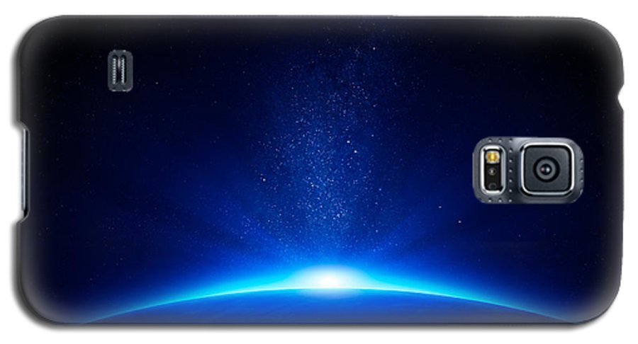 Earth Galaxy S5 Case featuring the photograph Earth Sunrise In Space by Johan Swanepoel