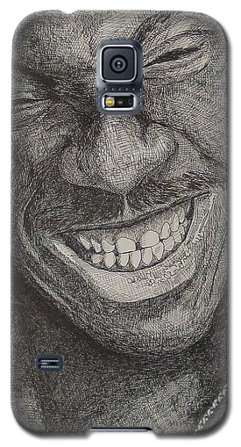 Portraiture Galaxy S5 Case featuring the drawing Eddie by Denis Gloudeman