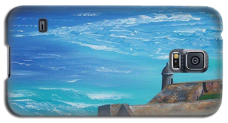 El Morro Ii Galaxy S5 Case featuring the painting El Morro II by Tony Rodriguez