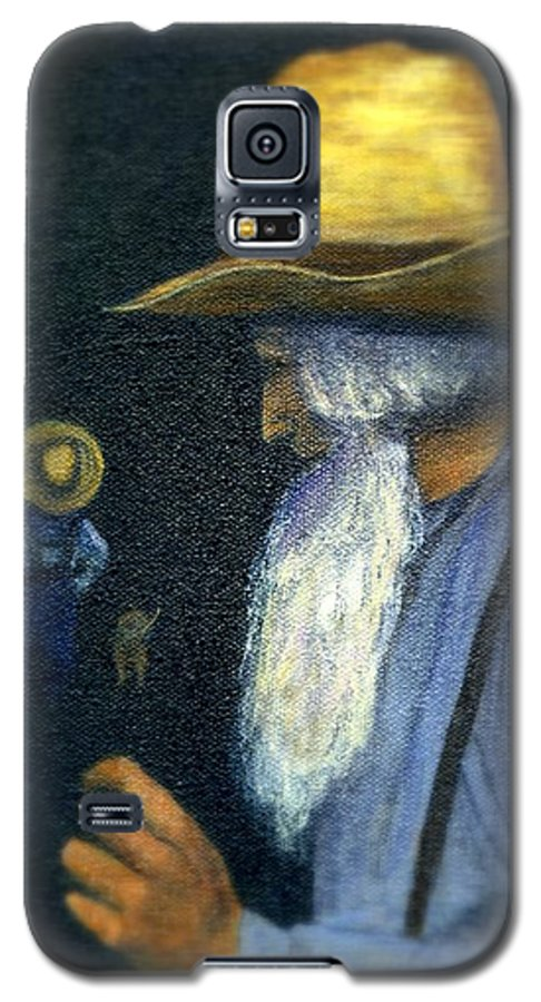 Men Galaxy S5 Case featuring the painting Eli Remembers by Gail Kirtz