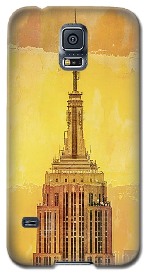 New York Galaxy S5 Case featuring the digital art Empire State Building 4 by Az Jackson
