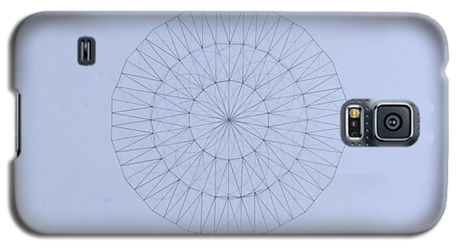 Jason Padgett Galaxy S5 Case featuring the drawing Energy Wave 20 Degree Frequency by Jason Padgett