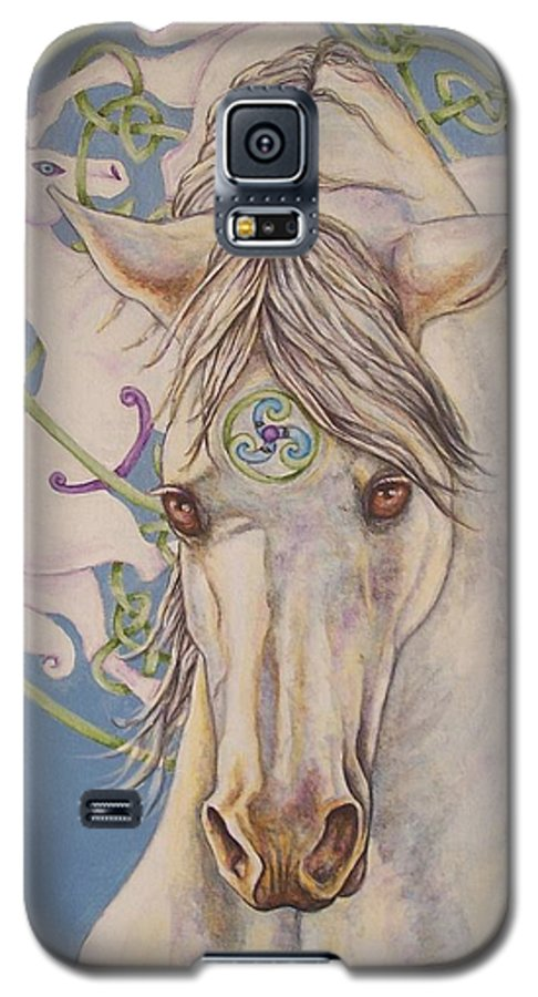 Celtic Galaxy S5 Case featuring the painting Epona The Great Mare by Beth Clark-McDonal